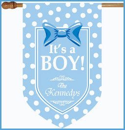 It's A Boy monogrammed Flag