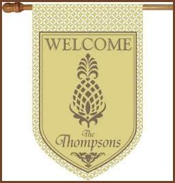 Personalized Pineapple And Khaki Flag