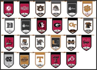 Collegiate monogram Flags