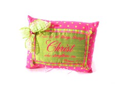 PINK & GREEN PILLOW