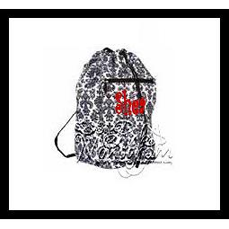Monogrammed Back Pack Laundry Bag