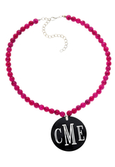 Sassy Pink Bead Necklace