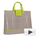 Gingham Waxed Canvas Foldable Tote-