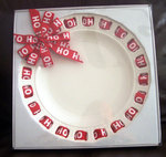 HOLIDAY RIBBON PLATE 12""