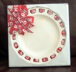 HOLIDAY RIBBON PLATE 9""