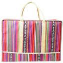 Machu Pichu Striped Foldable Luggage