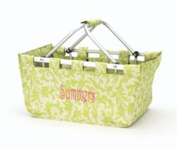 Floral - Lime Green Market Tote
