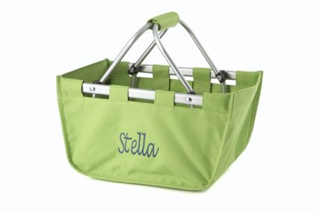 Lime Green Mini Market Tote