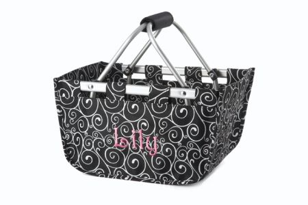 Black/White Swirl Mini Market Tote