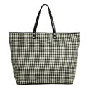 Titi Woolen Houndstooth Large Tote