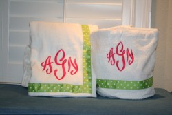 MONOGRAMMED SPA DITTY BAGS