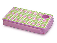 PINK PLAID LAP DESK