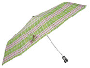 MONOGRAMED PINK PLAID UMBRELLA